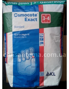 Удобрения Osmocote Exact High-K 3-4м 12-7-19+TE 25 кг