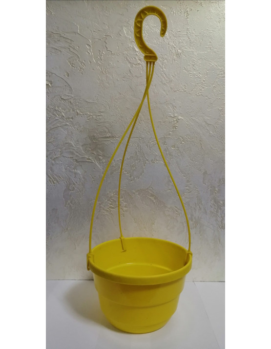 Кашпо 23 см подвесное  для цветов 4,3 литра желтое Украина